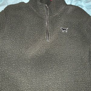 VICTORIA SECRET QUARTER ZIP SWEATSHIRT !!! OBO !!